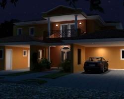 3D Vivienda Render Nocturna Construcción Constructora Arquitectura