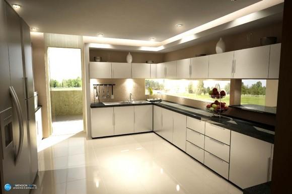 3D Interiores Edificio cocina