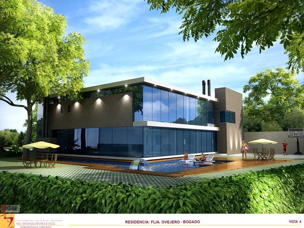 3d vivienda flia ovejero bogado render arquitectos for Render casa minimalista