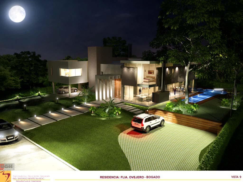 3d vivienda flia ovejero bogado render arquitectos for Viviendas minimalistas