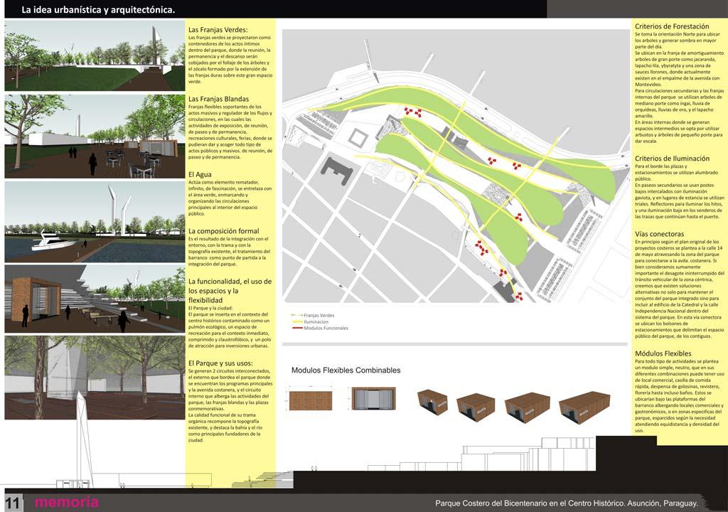 L minas del concurso de anteproyecto del parque for Laminas arquitectura