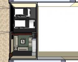 Vista primer nivel planta planos casa vivienda triplex arquitectura y construcción