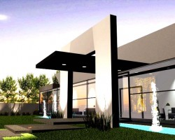 3D Salon de Eventos Render