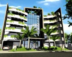 3D Edificio Residencial Arcoiris Render