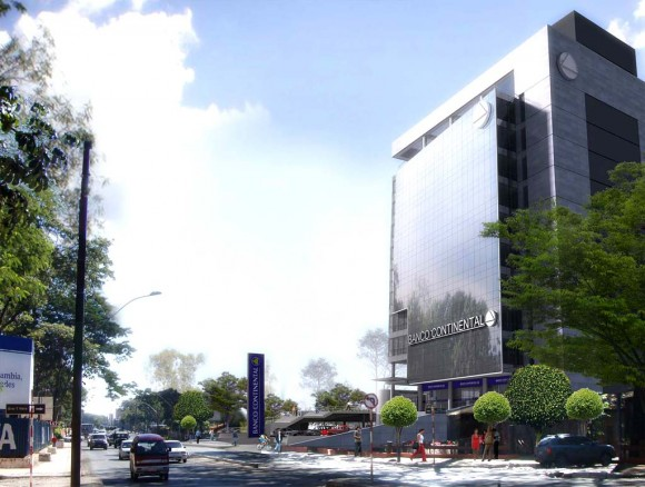 3D Banco Continental Render