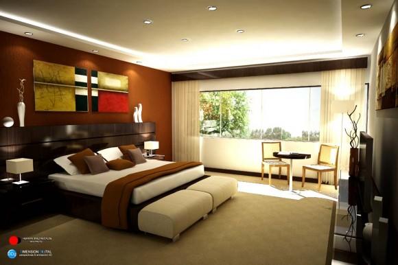 Dormitorio vivienda interior diseño