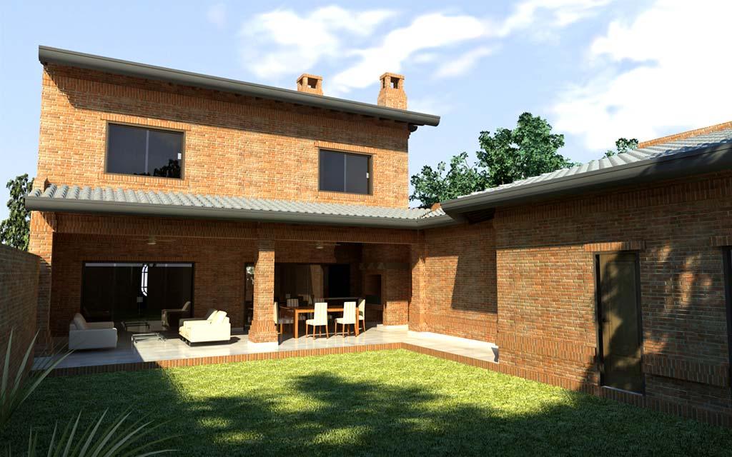 3d vivienda tradicional paraguaya render arquitectos