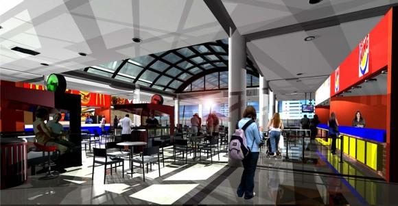 Patio de Comidas Edificio Galería Comercial Arquitectura comercial tipica