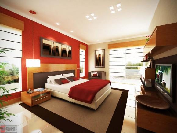 3D Propuesta Diseño Interior Dormitorio Principal Vivienda Render