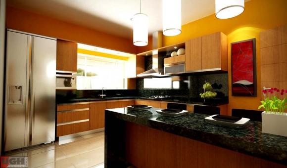 3D Interior Cocina Diseño Interior Render