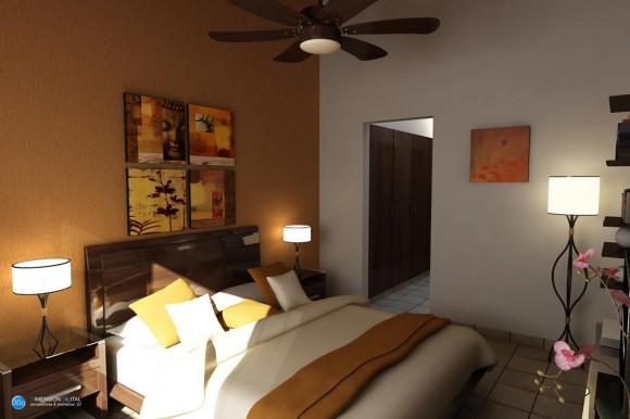 Vivienda dormitorio principal diseño interior