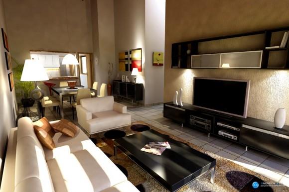 3D Diseño Interior Vivienda 175m2
