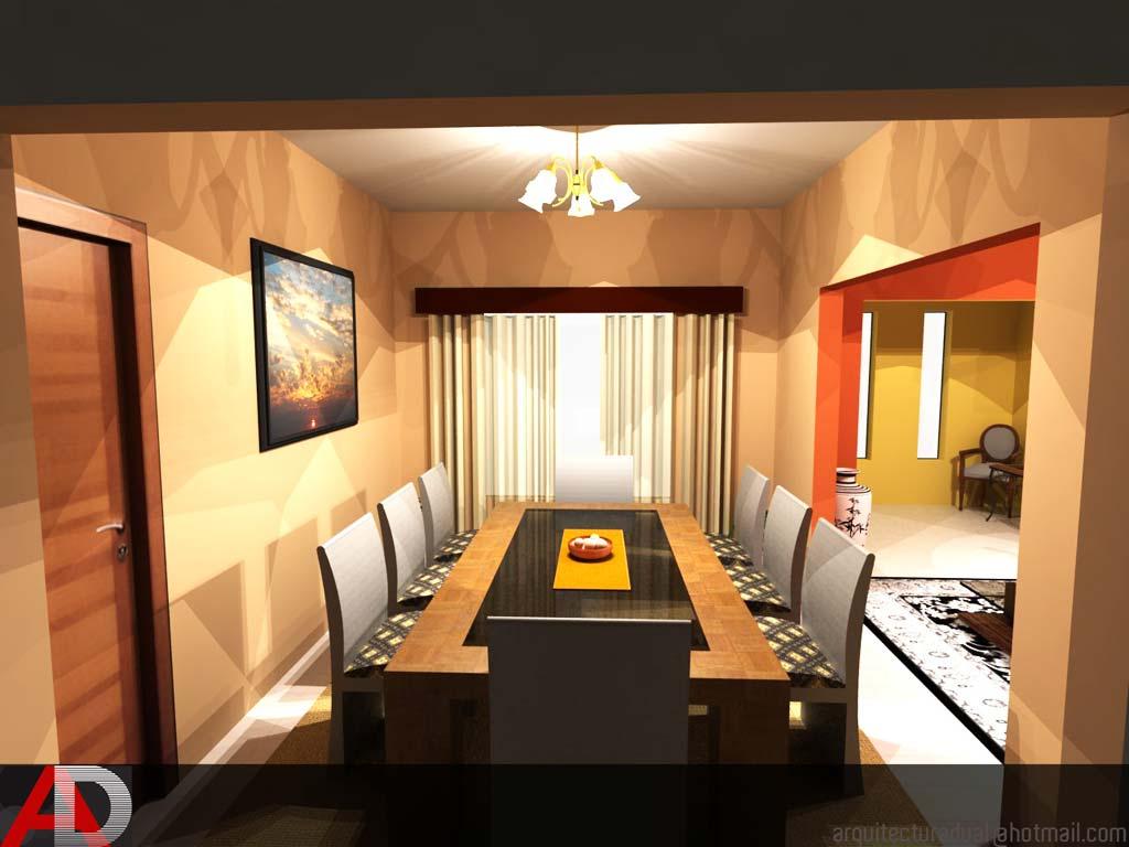 3d dise o de comedor de vivienda unifamiliar render - Diseno vivienda unifamiliar ...