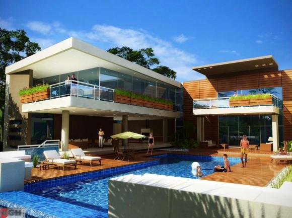 3D Residencia en el Country Render