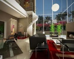 3D Diseño Interior Residencia Country Render