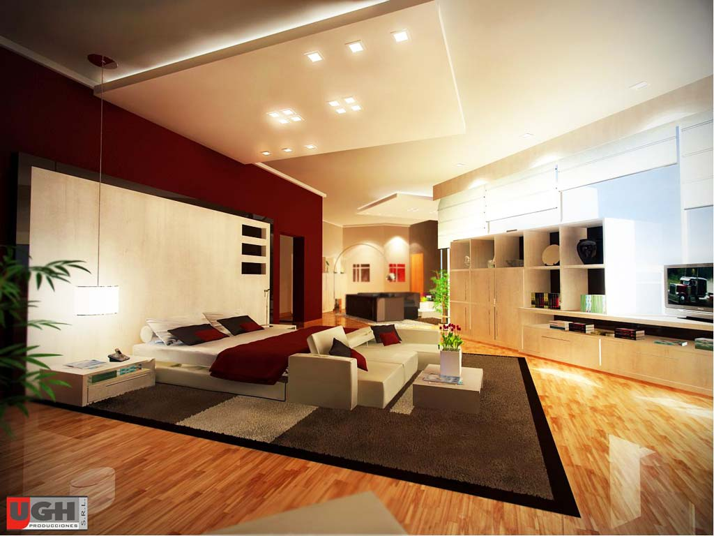 3d dise o interior residencia country render for Disena tu dormitorio 3d