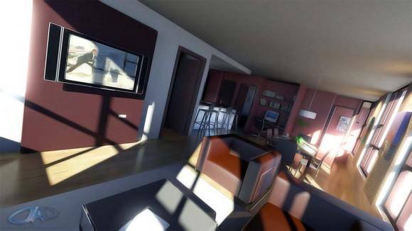 3D Diseño Interior de Departamento Render