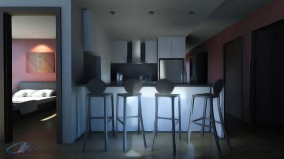 Propuesta de diseño interior para departamento.