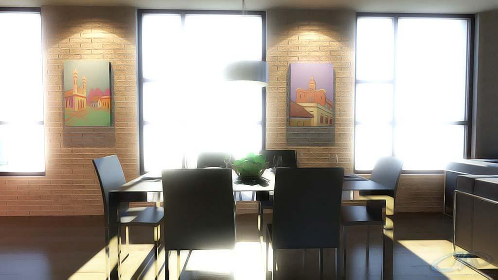 3d dise o interior de departamento render arquitectos for Diseno interior departamento