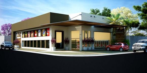 3D Supermercado Carolina Render