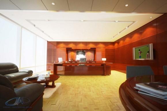3D Propuesta Diseño Interior Oficina Render