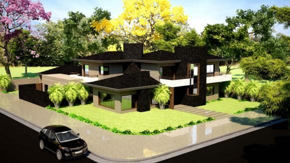 3D Casa Unifamiliar Render