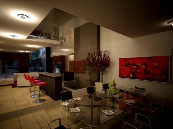 3D Vivienda Unifamiliar Interiores