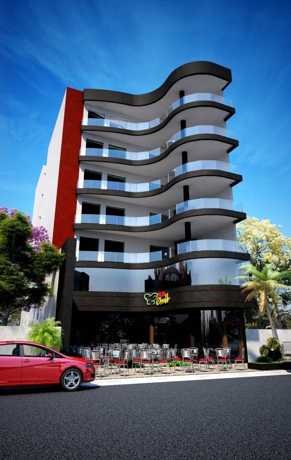 3D Edificio Pizza´s Cheff Render