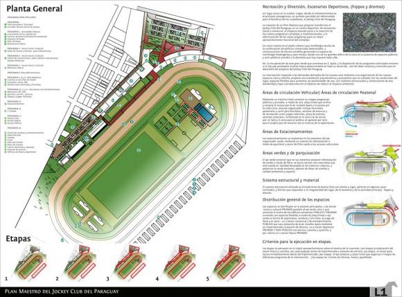3D 3 Puesto Concurso Plan Maestro Jockey Club del Paraguay