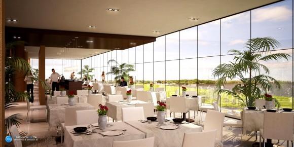 3D Hotel Arecutacuá Interiores Render