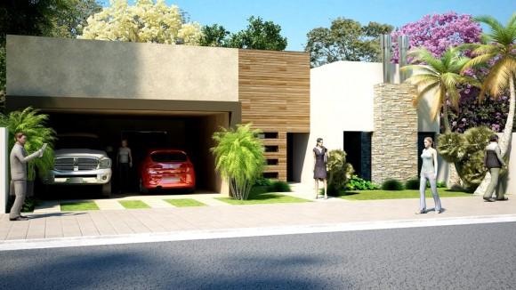 3D Casa Castillo Remodelación de Fachada Existente