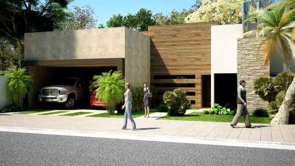 Remodelacion de fachada de vivienda existente..