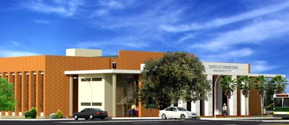 3D Centro de Convenciones, Plaza y Oficinas Render