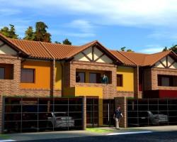 3D Residencias Pareadas Render
