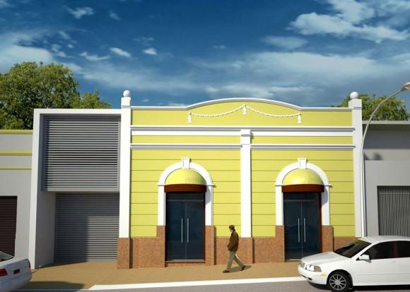3D Residencia Familiar y Oficinas Comerciales Render