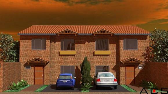 3D Viviendas Pareadas Villa Morra