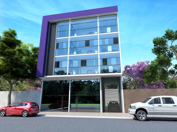 3D Edificio de Oficinas Render