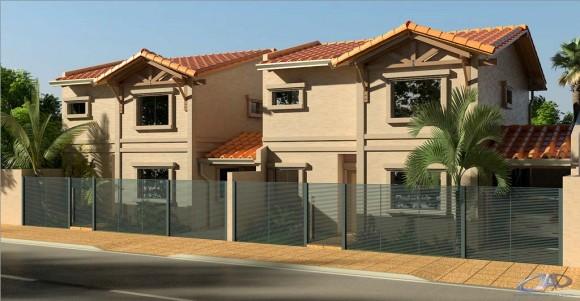 3D Vivienda Tipo Duplex Tradicional para Inversión Render