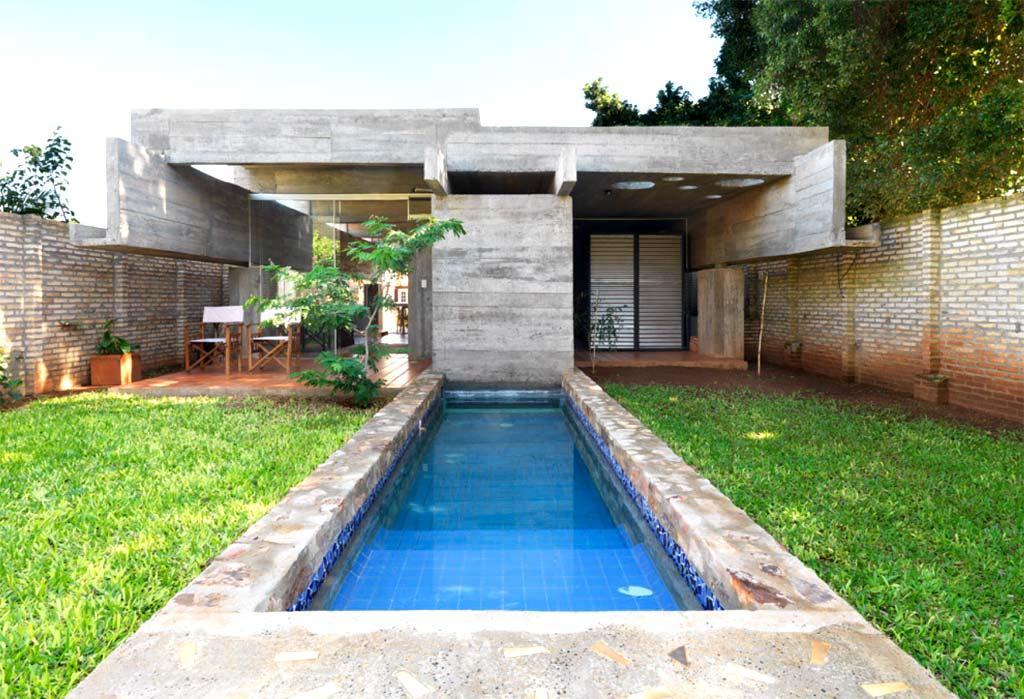 Obra sotoportego javier corval n for Construccion de piscinas en paraguay