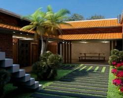 3D Ampliación de Vivienda Unifamiliar Render Arquitectura Tradicional