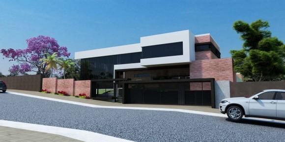 3D Casa Unifamiliar en Encarnación Render