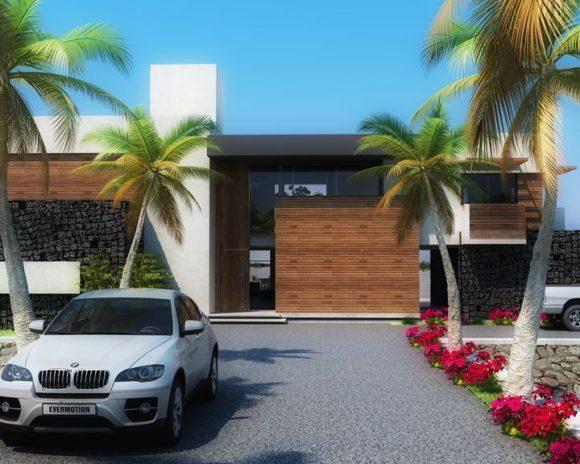 3D Casa en el Paraná Vivienda de Fin de Semana Render
