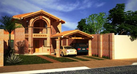 3D Residencia Familiar Render