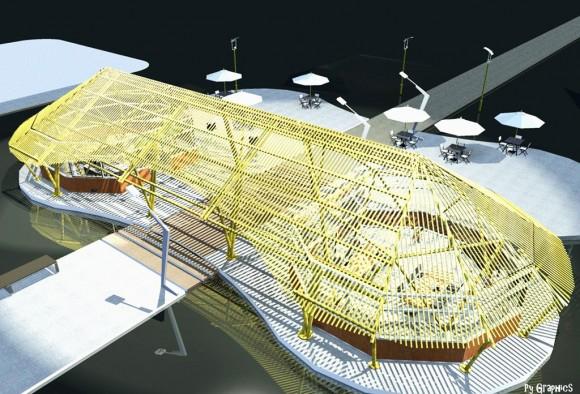 3D Bosque de la Memoria Py - Culata Jovai Render