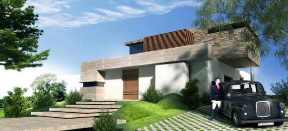 3D Vivienda en el Parana Country Club Render - Arquitectura de Casas