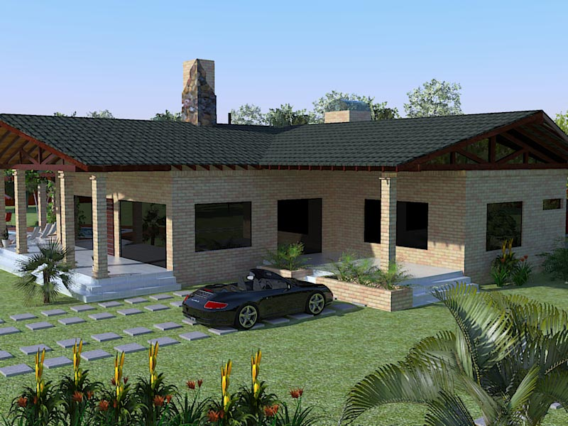 Related Pictures 3d Casa De Campo Render Arquitectura Casas | Jongose ...