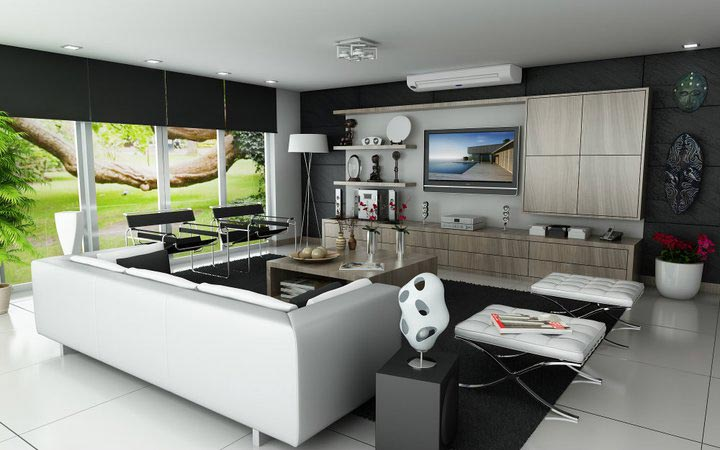 3d dise o de interiores minimalistas render for Proyectos minimalistas