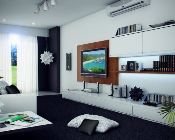 3D diseño interior home Theater Render