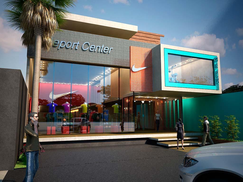 3d local comercial vivienda y consultorio render for Local arquitectura