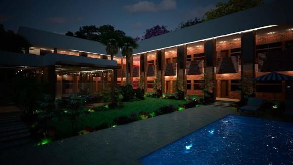 3D Anteproyecto de Hotel en Encarnación Render